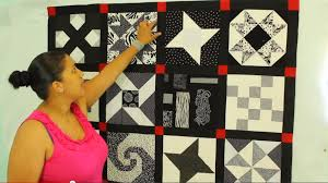 Quilt Sashing- How to Measure & Make it - Crafty Gemini & An example is this black & white quilt I made a few years ago from blocks I  gathered in a black & white quilt along I participated in online. Adamdwight.com