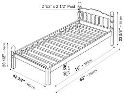 Terrific Measurements For Twin Bed 29 For Your Image with Measurements For Twin  Bed