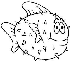 printable fish coloring pages fish coloring pages puffer fish coloringstar free