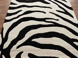 prints modern contemporary shag flokati hand tufted rug carpet wool zebra print rug a47 zebra