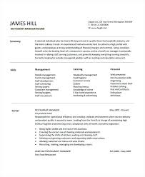 Restaurant Manager Resume Restaurant Manager Resume Sample