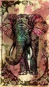 Tribal Elephant Phone Wallpaper