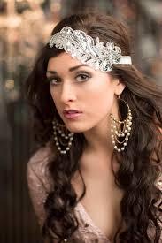 roaring 20s flapper headband silver gatsby headpiece 1920s hair accessories