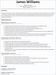 Microsoft Word Rn Resume Template Nursing Cv Assistant Entry Stock