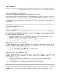 free executive assistant resume example sample executive administrative assistant resume