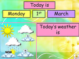 Day Date Weather Chart Weather Chart For The Iwb Notes For Teachers This