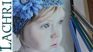 drawing a child in colored pencil portrait tutorial by lachri you