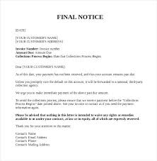 dept collection letter collection notice template rotv info