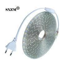 SXZM Waterproof <b>SMD5050</b> led tape <b>AC220V</b> flexible led strip 60 ...