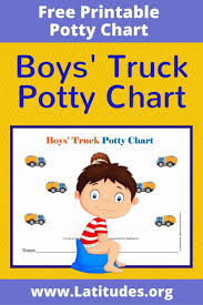 Free Potty Training Chart Boys Truck Acn Latitudes