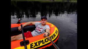 Сплав по енисею на новой <b>лодке Intex Explorer 300</b>. Дивногорск ...