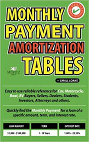 Home Amortization Amazon Com Monthly Payment Amortization Tables For Small