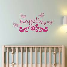 personalized wall decor baby name wall sticker