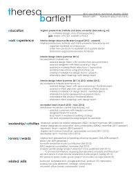 Interior Design Resume Interesting Resume Work Sample Theresa Bartlett