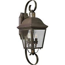 progress lighting andover 21 25 in h antique bronze outdoor wall light at