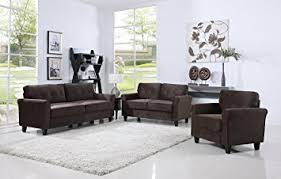 dining room sofa set. Simple Sofa Classic Living Room Furniture Set  Sofa Love Seat Accent Chair Brown Inside Dining Sofa S