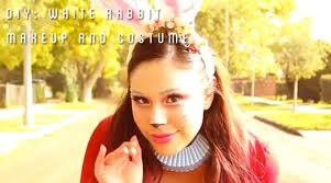 white rabbit makeup and costume