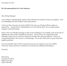 Free Letter Of Recommendation Chris M Johnston's Fan Club Recommendation Letters 87