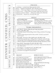 Objective For Medical Billing And Coding Resume Best of Sample Medical Biller Resume Medical Billing Resume Samples Inside