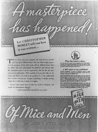 of mice and men critical reception steinbeck in the schools advertisement for of mice and men