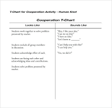 T Chart Math Template For Example Of