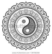 Mandala Kleurplaat Ying Yang Dibujo De Mandala Yin Yang Para