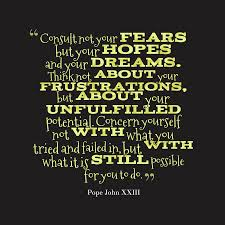 Failed Dreams Quotes Best Of Picture Pope John XXIII Quote About Dream QuotesCover