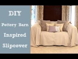 couch slipcovers diy. Interesting Couch DIY Pottery Barn Inspired Slipcover Throughout Couch Slipcovers Diy