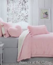 shabby barely pink chic winter white sherpa cottage cozy comforter coverlet from 195 00