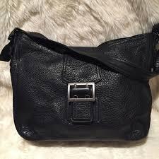 details about banana republic black pebbled leather satchel handbag purse 12
