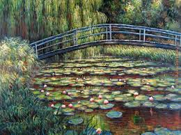 the water lily pond pink harmony painting claude monet the water lily pond pink harmony