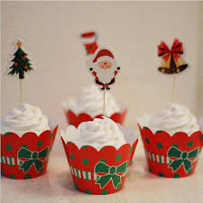 Decorating Boxes With Paper Classic Christmas Dress Up Paper Cupcake Wrappers Decorating Boxes 80