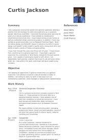 General/Carpenter Foreman Resume samples