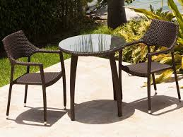 brown set patio source outdoor. Source Outdoor Furniture Tuscanna Wicker Bistro Set Brown Patio