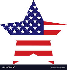 american flag star background vector image