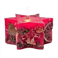 Kerzenstern Naturdeko Weihnachtsstern Fruchtkerze Kerze