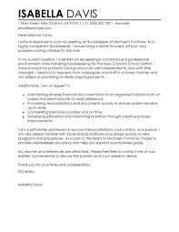 Best Cover Letter Leading Professional Bookkeeper Cover Letter Examples