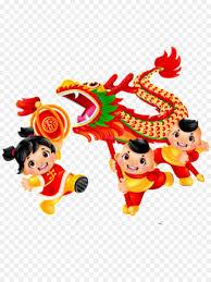 Available in png and svg formats. Tarian Naga Barongsai Tahun Baru Cina Gambar Png