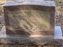 Janis Effie Matthews (Sellers) (1927 - 1985) - Genealogy