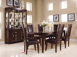 time fancy dining room. Dining Room:Fancy Set With Black Leather Chairs Around Glossy Table Vases Time Fancy Room S
