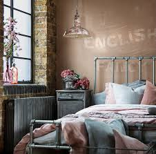 Warehouse Home Soft Industrial Bedroom In Pink And Grey