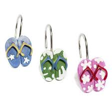 this set of 12 shower curtain hooks are hand crafted and hand painted to