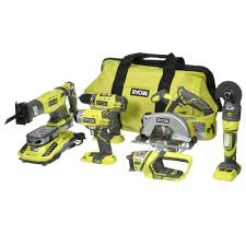 ryobi cordless tools. ryobi 18-volt one+ lithium-ion ultimate combo kit (6-tool)-p884 - the home depot cordless tools y