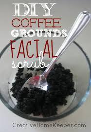 Natural coffee face & body scrub. Diy Coffee Grounds Facial Scrub Natural Beauty Creative Home Keeper