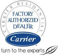 carrier factory authorized dealer logo. #1 carrier factory authorized dealer in greater toronto area logo