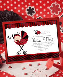 Printable Birthday Invitations Ladybug First Party Red LadybugsFree Printable Ladybug Baby Shower Invitations