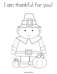 I Am Thankful Coloring Pages Color Bros