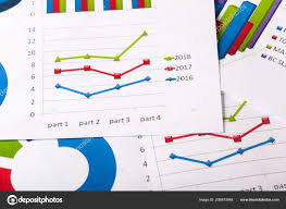Business Charts And Graphs Close View Business Charts Graphs Stock Photo