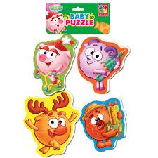 <b>Мягкие пазлы</b> Baby puzzle Смешарики <b>Vladi Toys</b>, цвет , артикул ...
