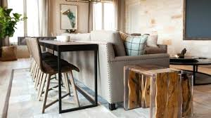 console table behind sofa decorate couch how to a deluxe difference